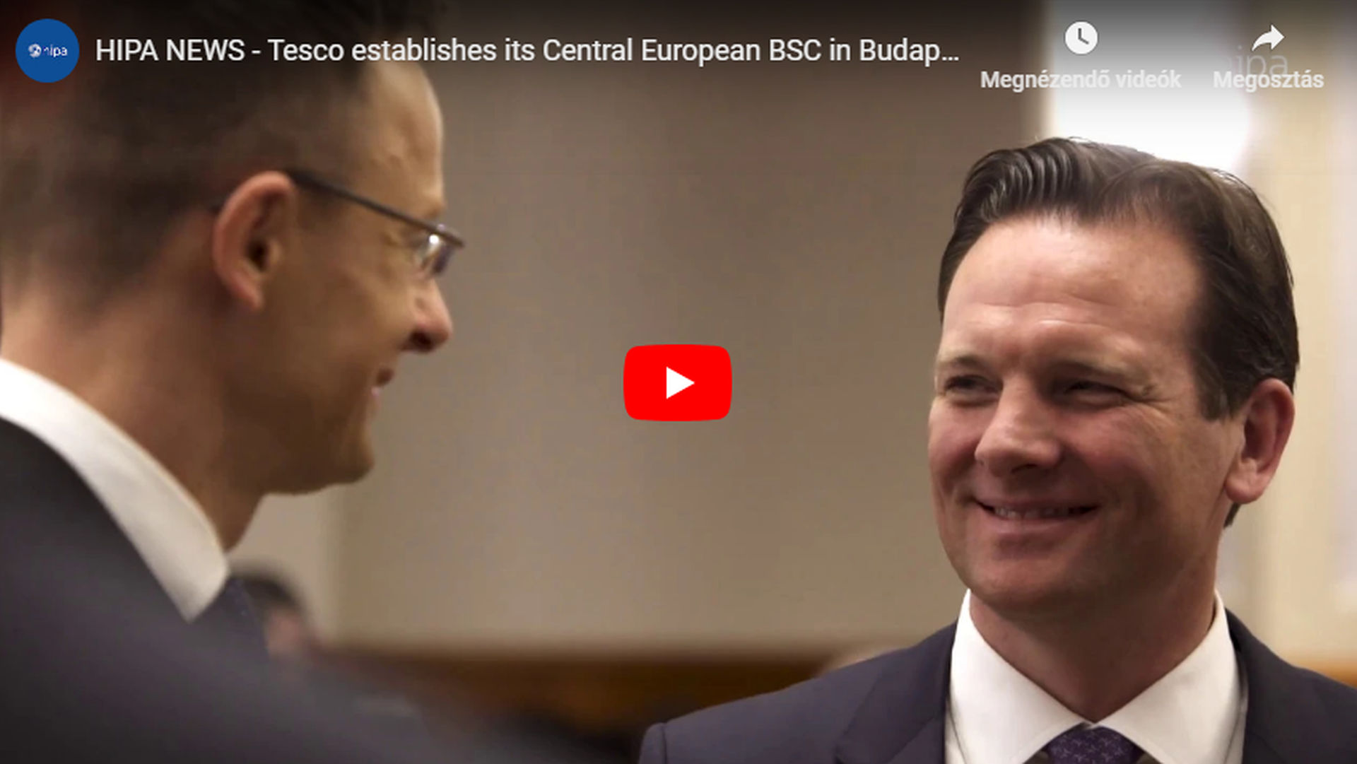 Tesco to establish its Central European business services centre in Hungary - VIDEO REPORT