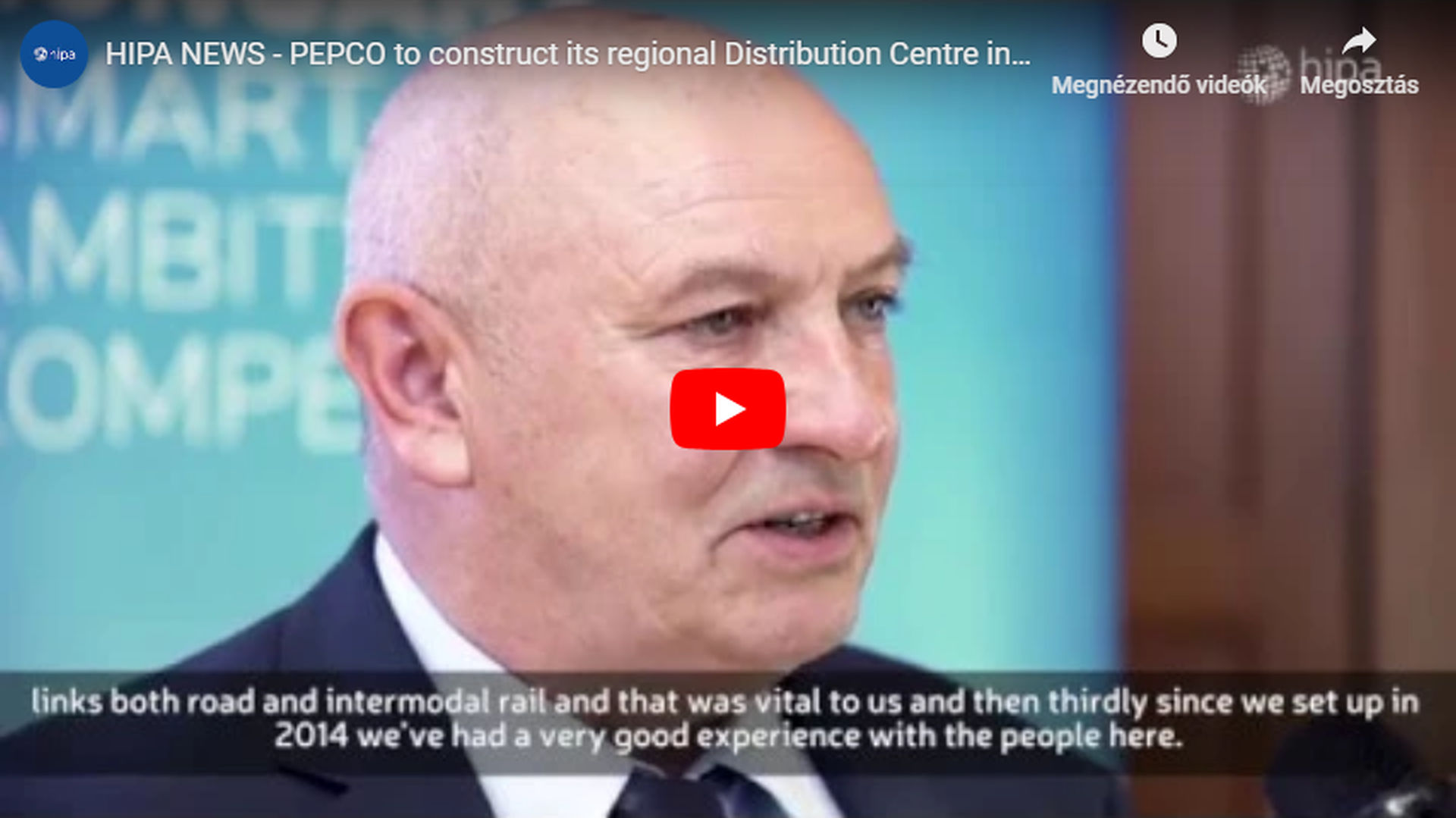 PEPCO to construct its regional Distribution Centre in Hungary - VIDEO REPORT