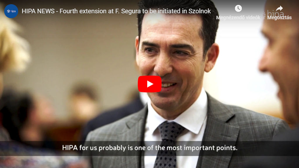 Fourth extension at F. Segura to be initiated in Szolnok - VIDEO REPORT