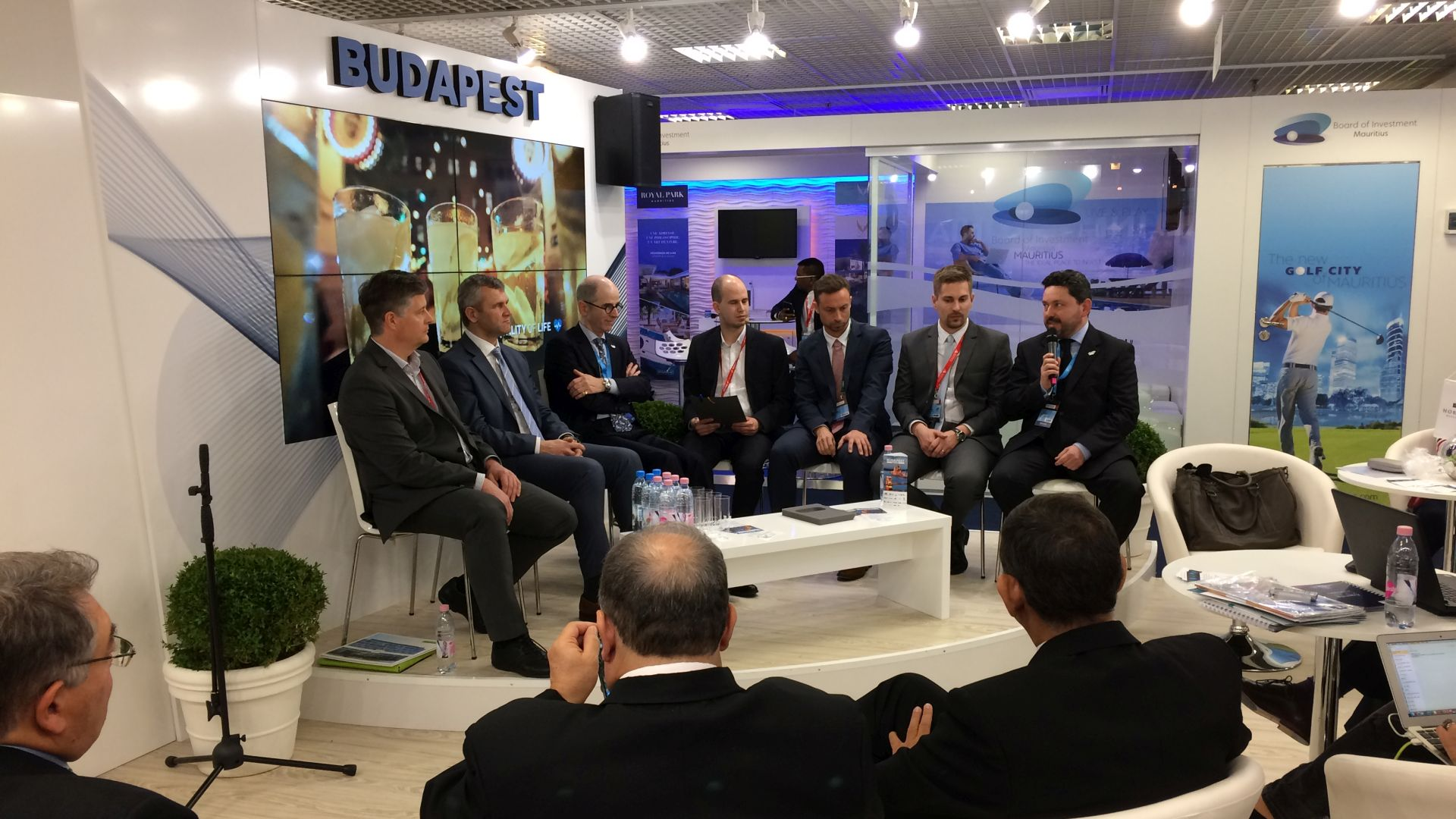 Roundtable-discussion at the Budapest booth