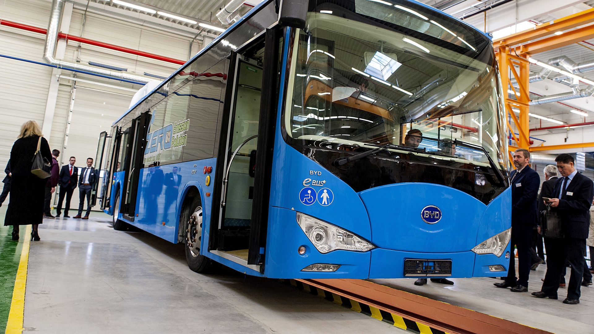 BYD opened its first European electric bus factory in Komárom