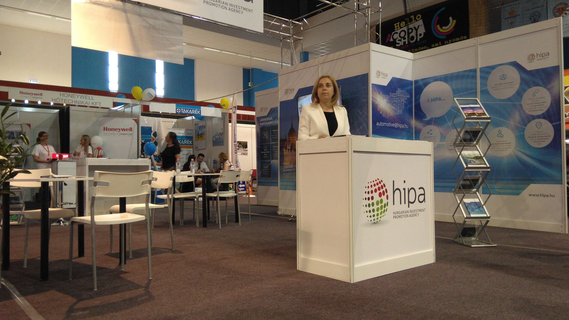 The HIPA booth at the expo