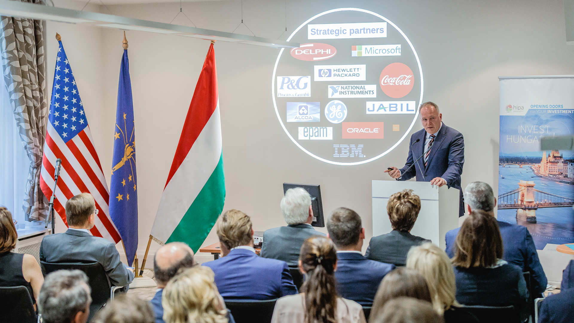 Governor Holcomb attended Hungary-Indiana Business Forum at HIPA headquarters