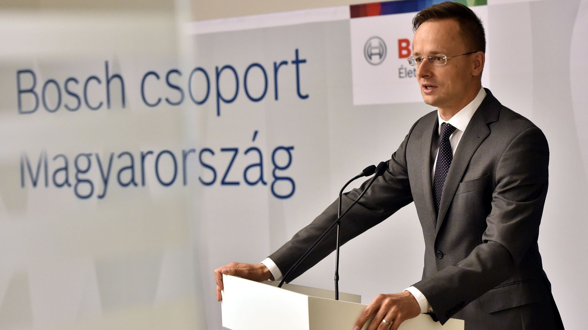 Péter Szijjártó, Minister of Foreign Affairs and Trade at the announcement of the investment
