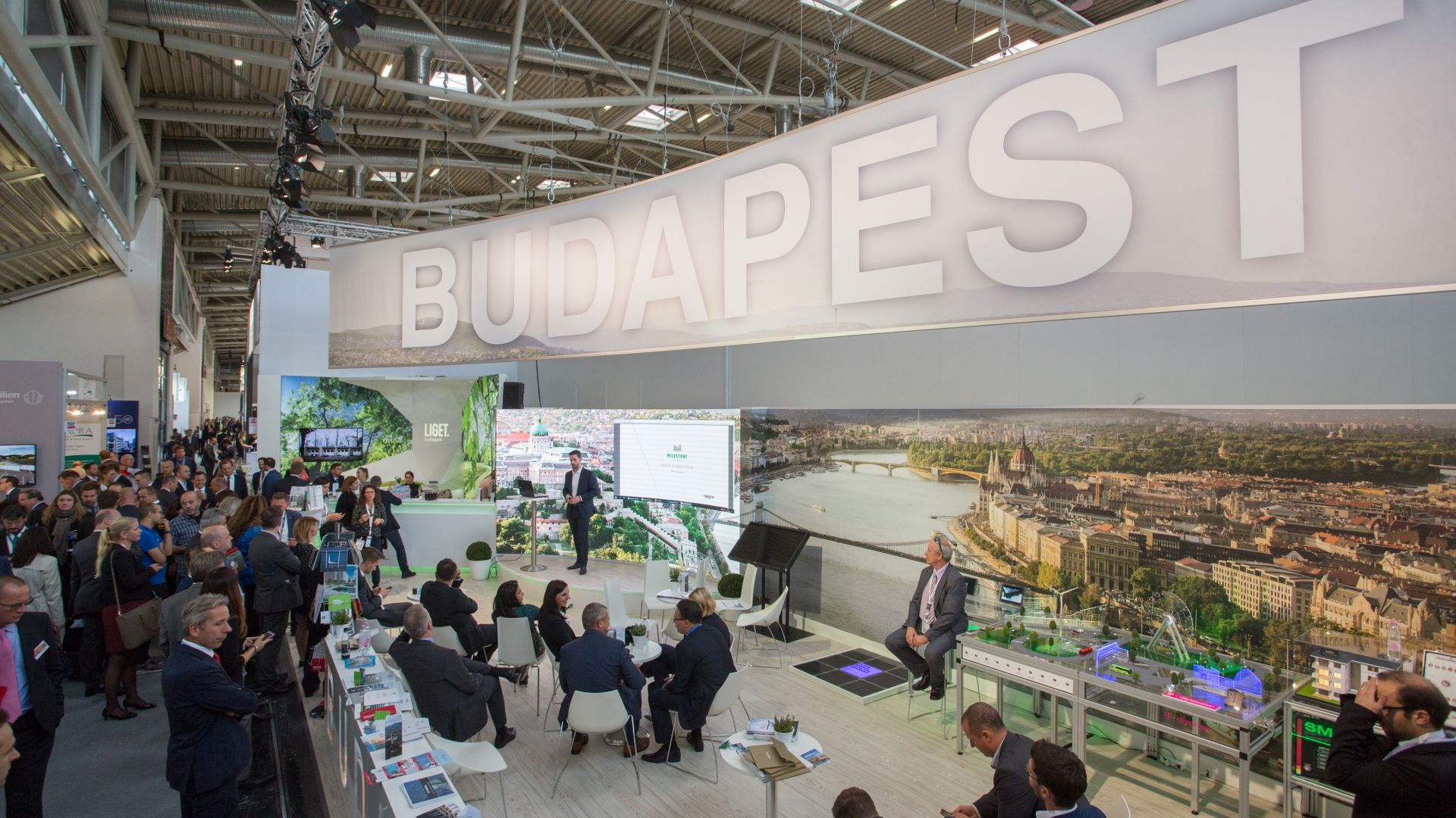 The Budapest booth at Expo Real 2017