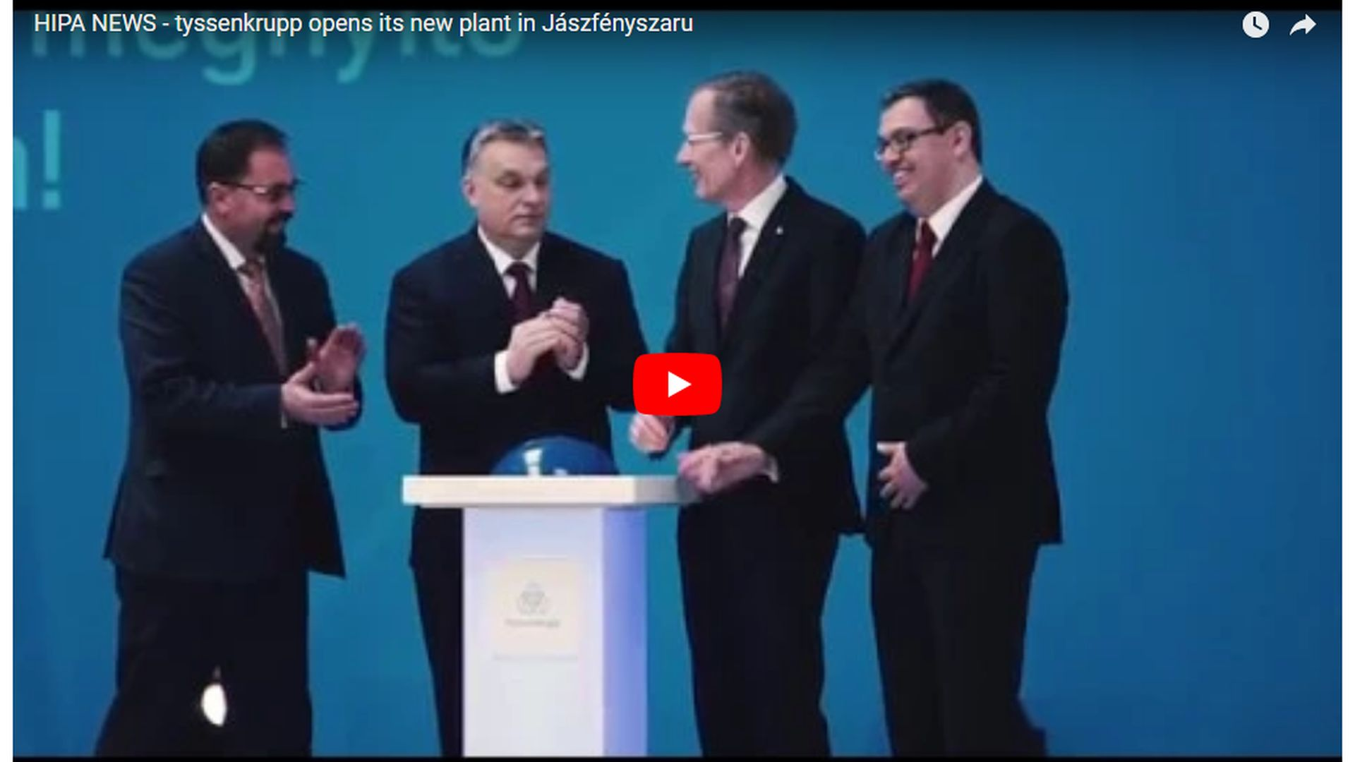 Hungary is a strategic partner for thyssenkrupp - VIDEO REPORT