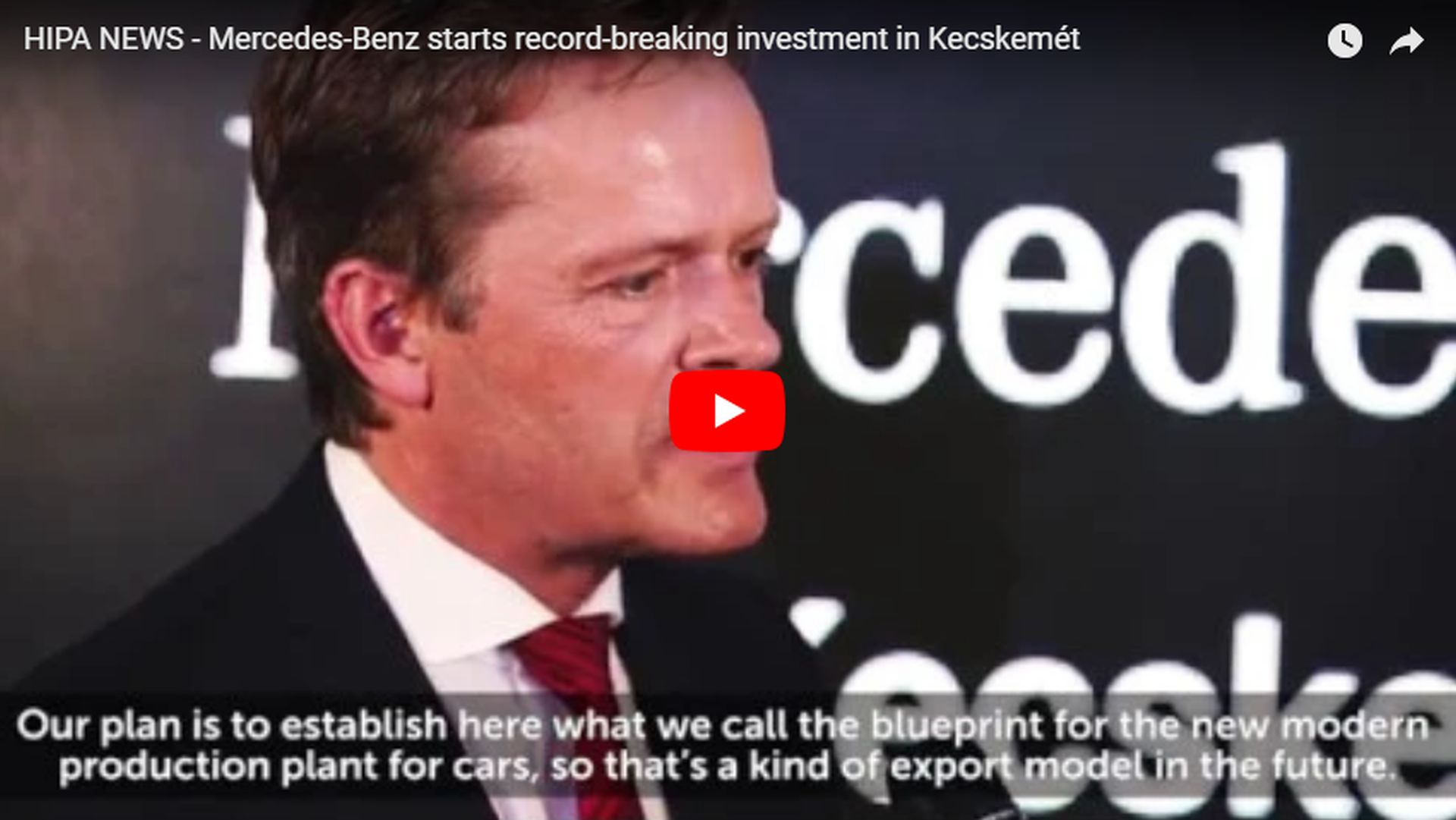 "Mercedes-Benz builds world's first ""full-flex"" plant in Kecskemét - VIDEO REPORT"