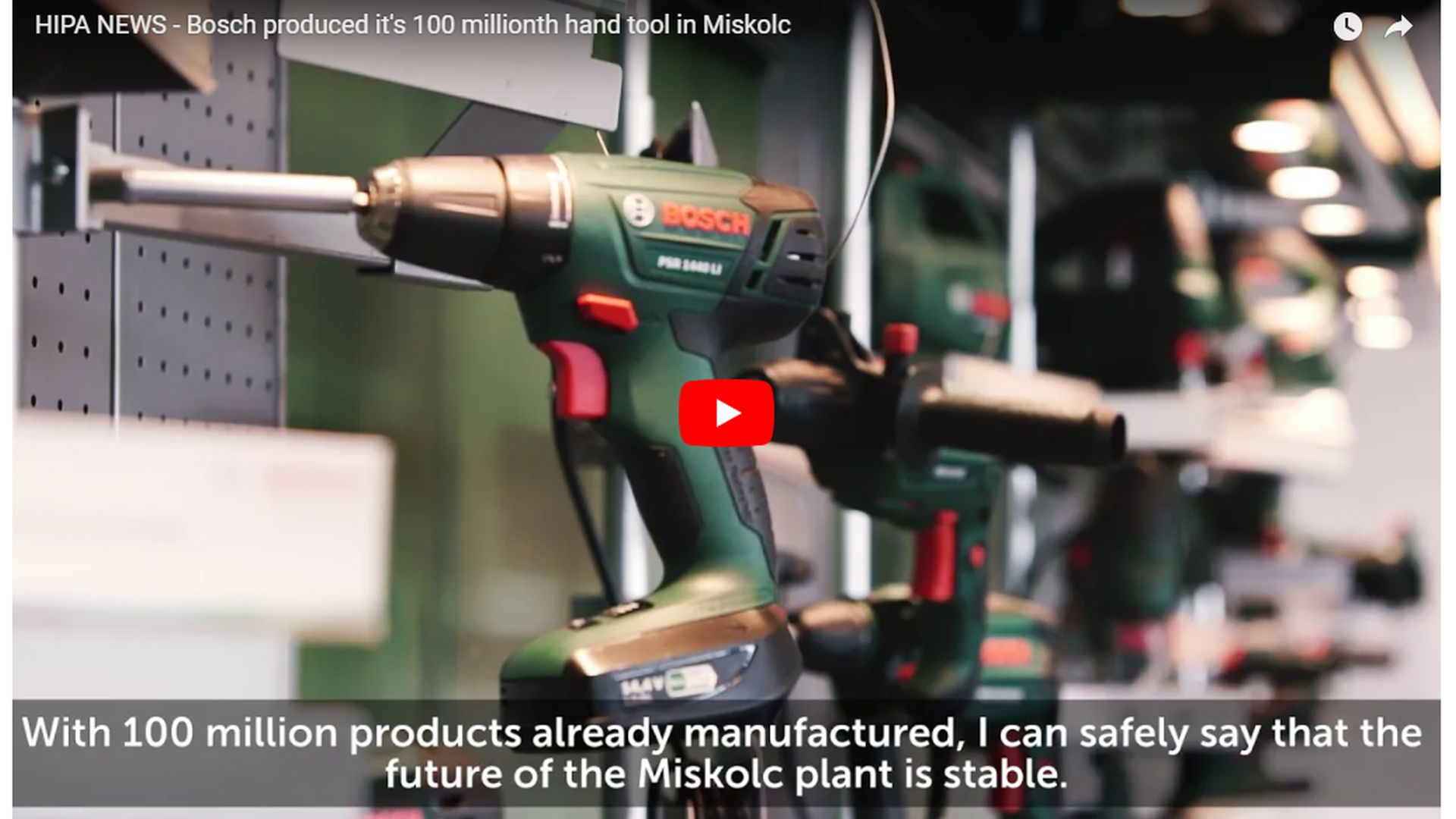 Bosch plant in Miskolc is one of the most innovative units of machine construction - VIDEO REPORT