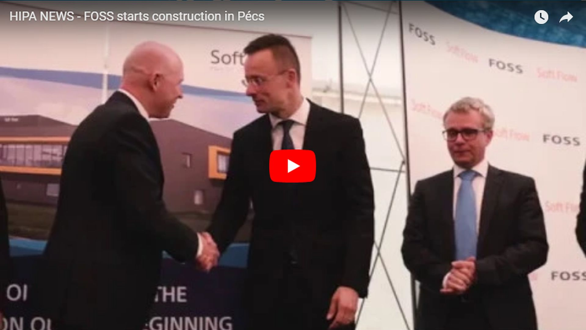 The foundation stone for the new FOSS biotechnology research centre has been laid - VIDEO REPORT