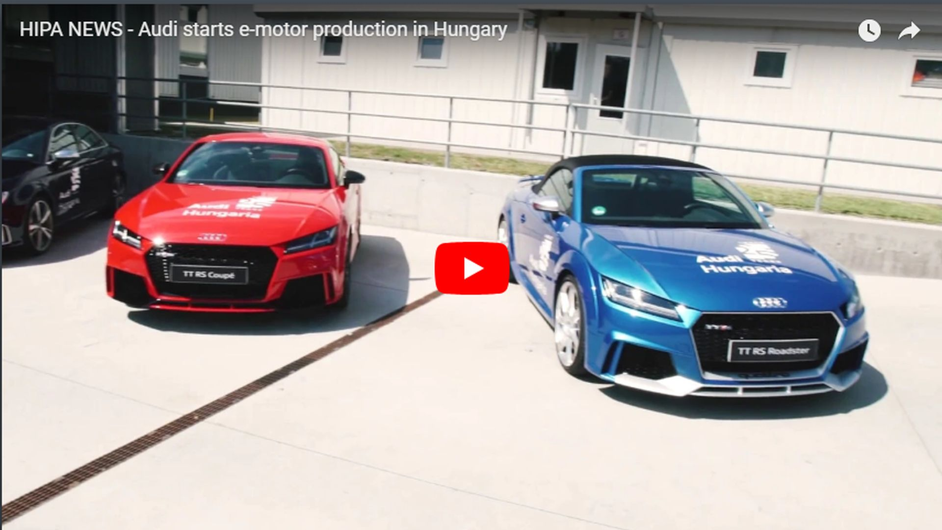 The drivetrain of the first purely electric Audi is already produced in Győr - VIDEO REPORT