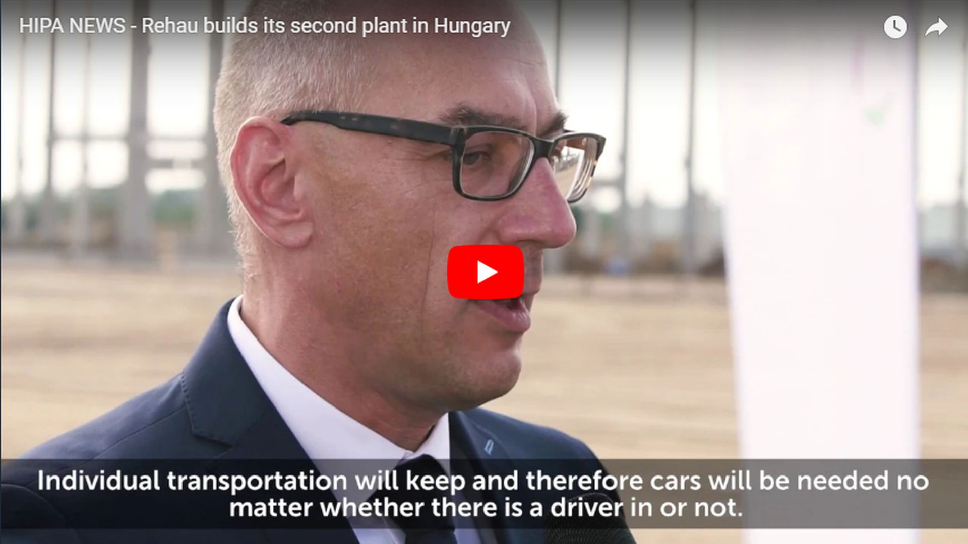 Rehau is to build its second plant in Hungary - VIDEO REPORT
