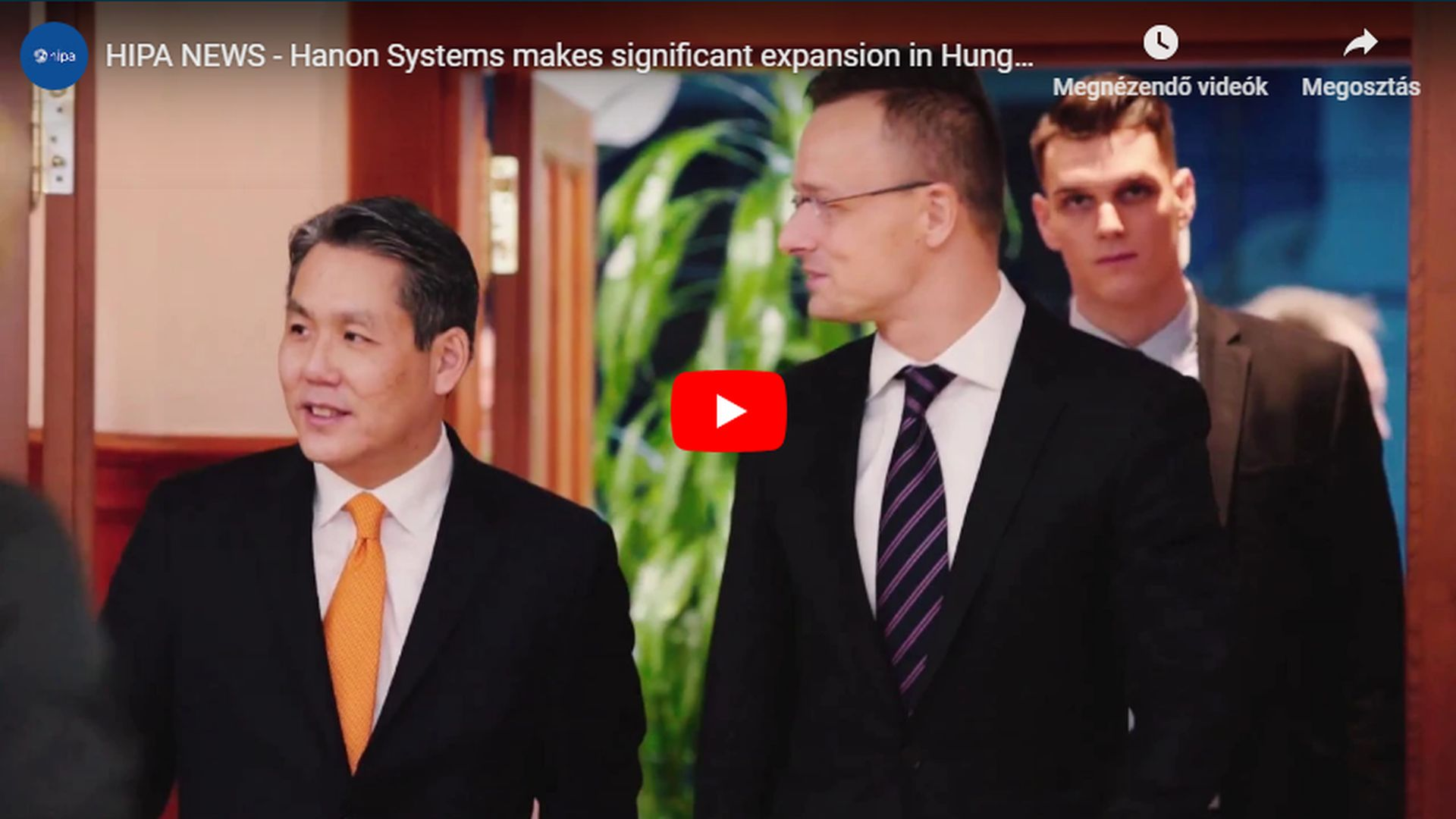 Hanon Systems to extend capacity and establish new sites in across Hungary - VIDEO REPORT