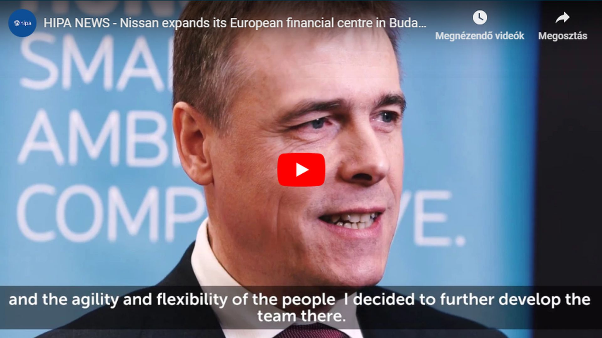Nissan to develop its European financial centre in Budapest - VIDEO REPORT