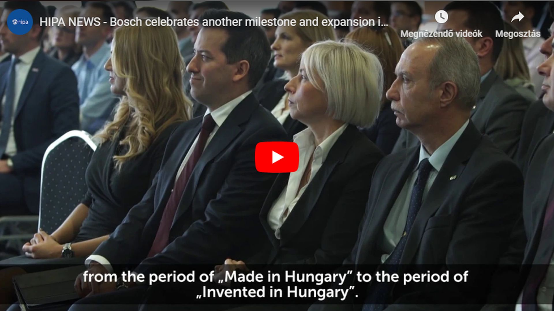 Another milestone and expansion in the automotive unit of Bosch in Miskolc - VIDEO REPORT