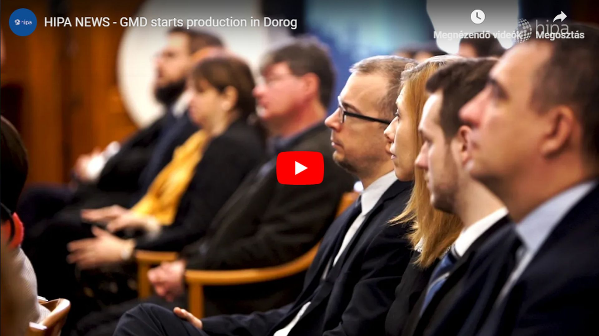 Manufacturing launched in the most modern European plant of the GMD Group in Dorog - VIDEO REPORT