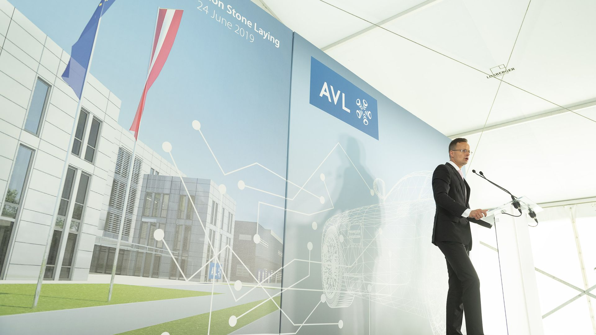The foundation stone of the new AVL headquarters and R&D centre has been laid in Érd