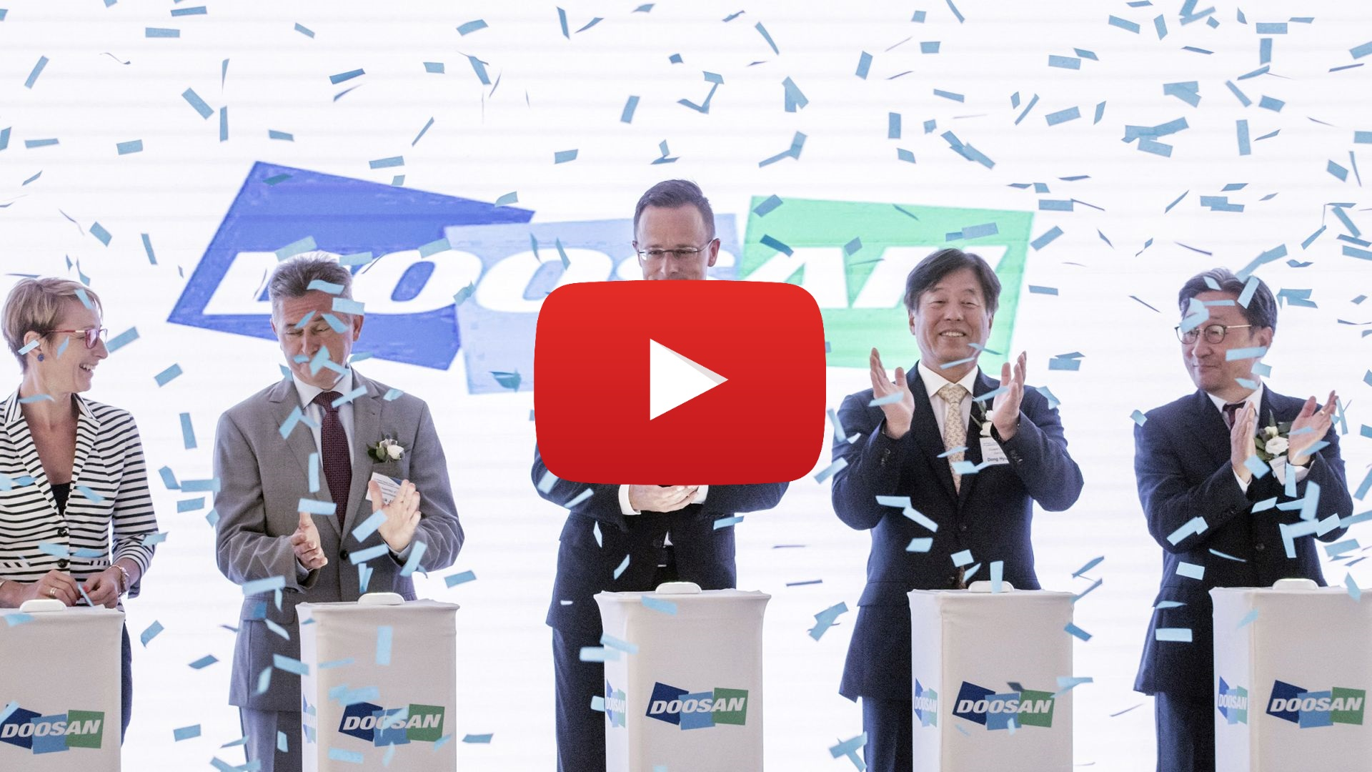 The new factory of Doosan reinforces both Hungarian and European battery production - VIDEO REPORT