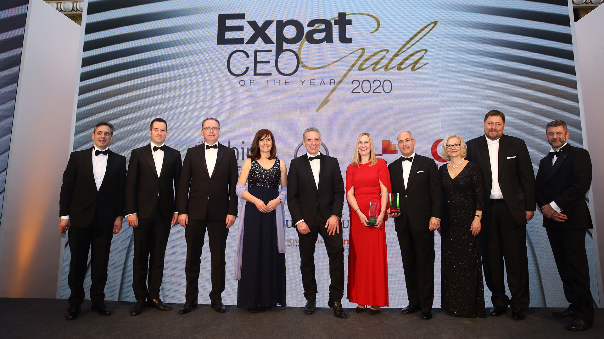 The Expat CEO of the Year prize was awarded to Ms Melanie Seymour